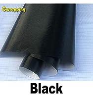 30 センチメートル x 100 センチメートル車のスタイリングシルバーマットブラシメタリックビニールフィルムカーラッピングステッカーデカールバブル送料起毛箔のためのオートバイ-Black