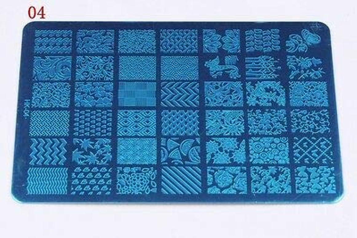共感する世界記録のギネスブックアイロニーFidgetGear ネイル画像ネイルスタンピングプレートマニキュアネイルアートの装飾スタンピングプレート HK 04