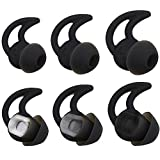 Bose Replacement Noise Isolation Silicone Earbuds/Earplug Tips 3 Pairs Size S M L for Bose Earphones Fit Bose QC20 QuietControl 20 QC30 SIE2 IE3 Soundsport Wireless Earphones (Black)