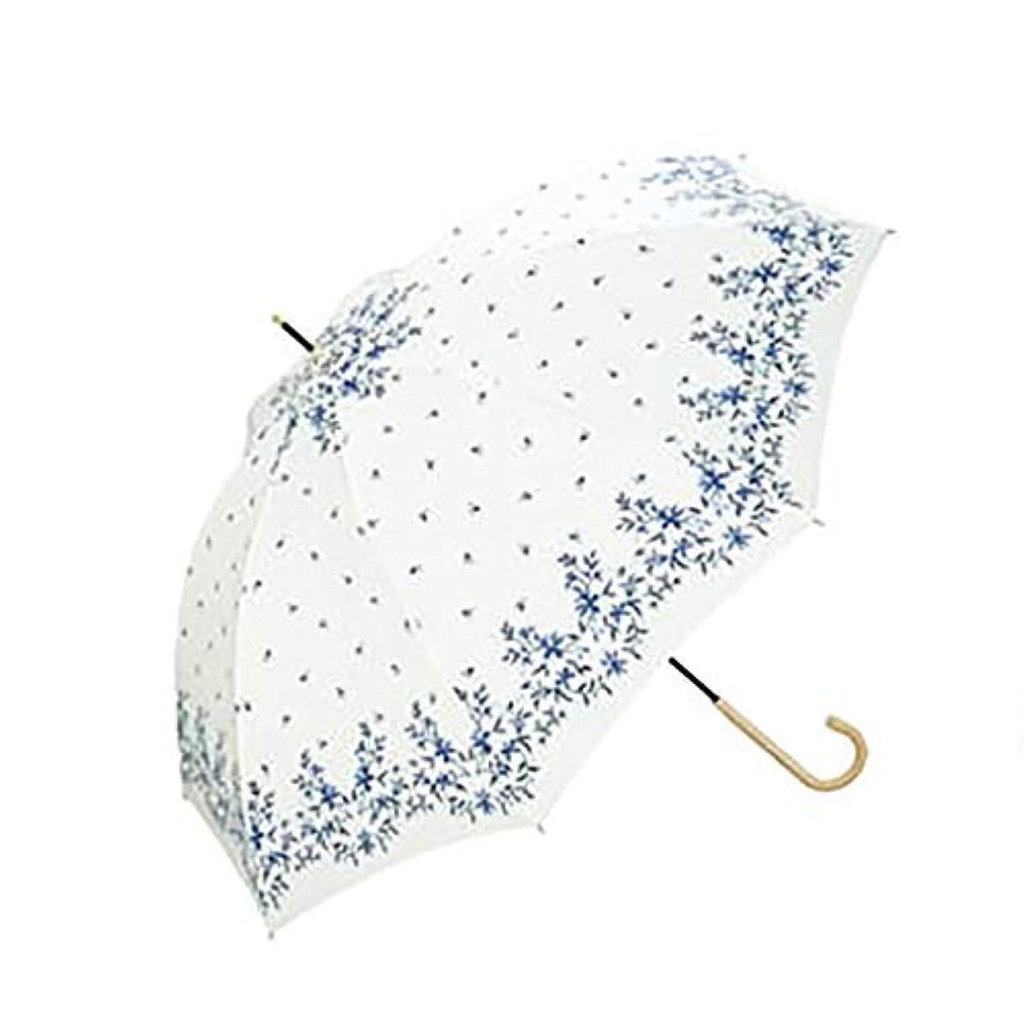 世辞スタウト欠席刺繍優雅で優雅な雨および日曜日二重使用日焼け止めロングハンドル日傘長いハンドル傘ライト日傘 (色 : B)