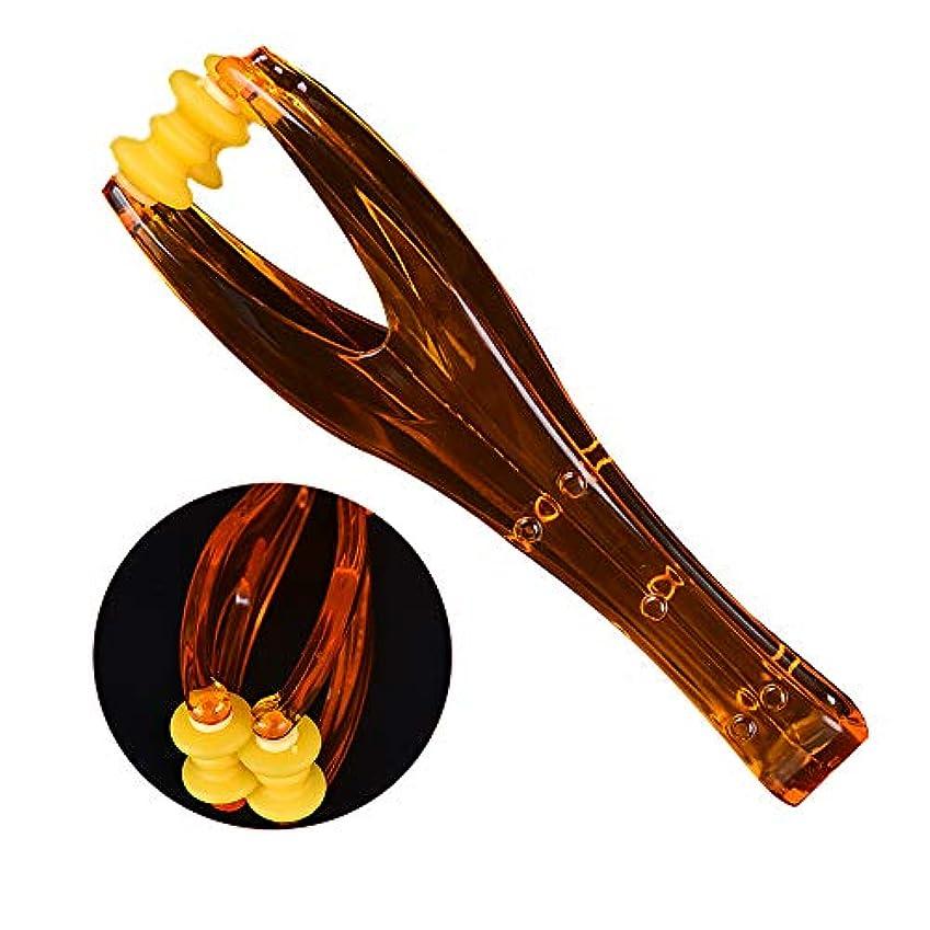 2ローラー血液循環指マッサージツール弾性ハンドルリラックス指関節家族のカップルのためのハンドマッサージャー