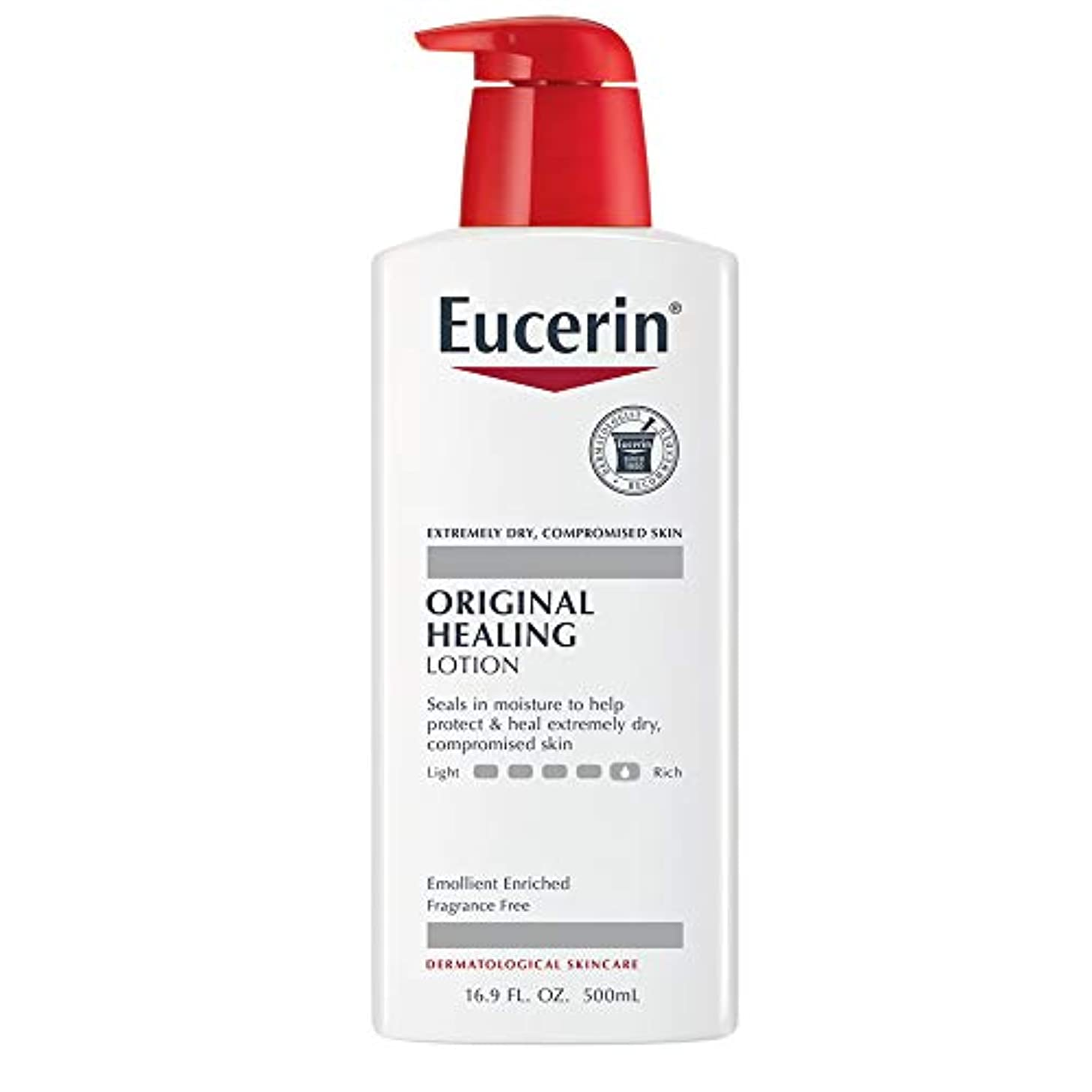 面積縁人工海外直送肘 Eucerin Original Moisturizing Lotion For Dry And Sensitive Skin, 16.9 oz