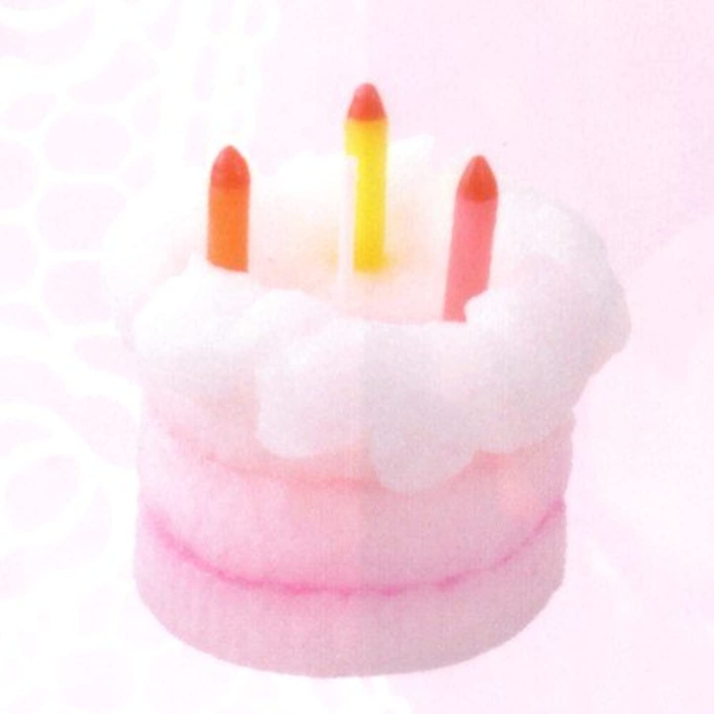 溶かす日ホームレスケーキキャンドル ハッピーバースデー ホワイト