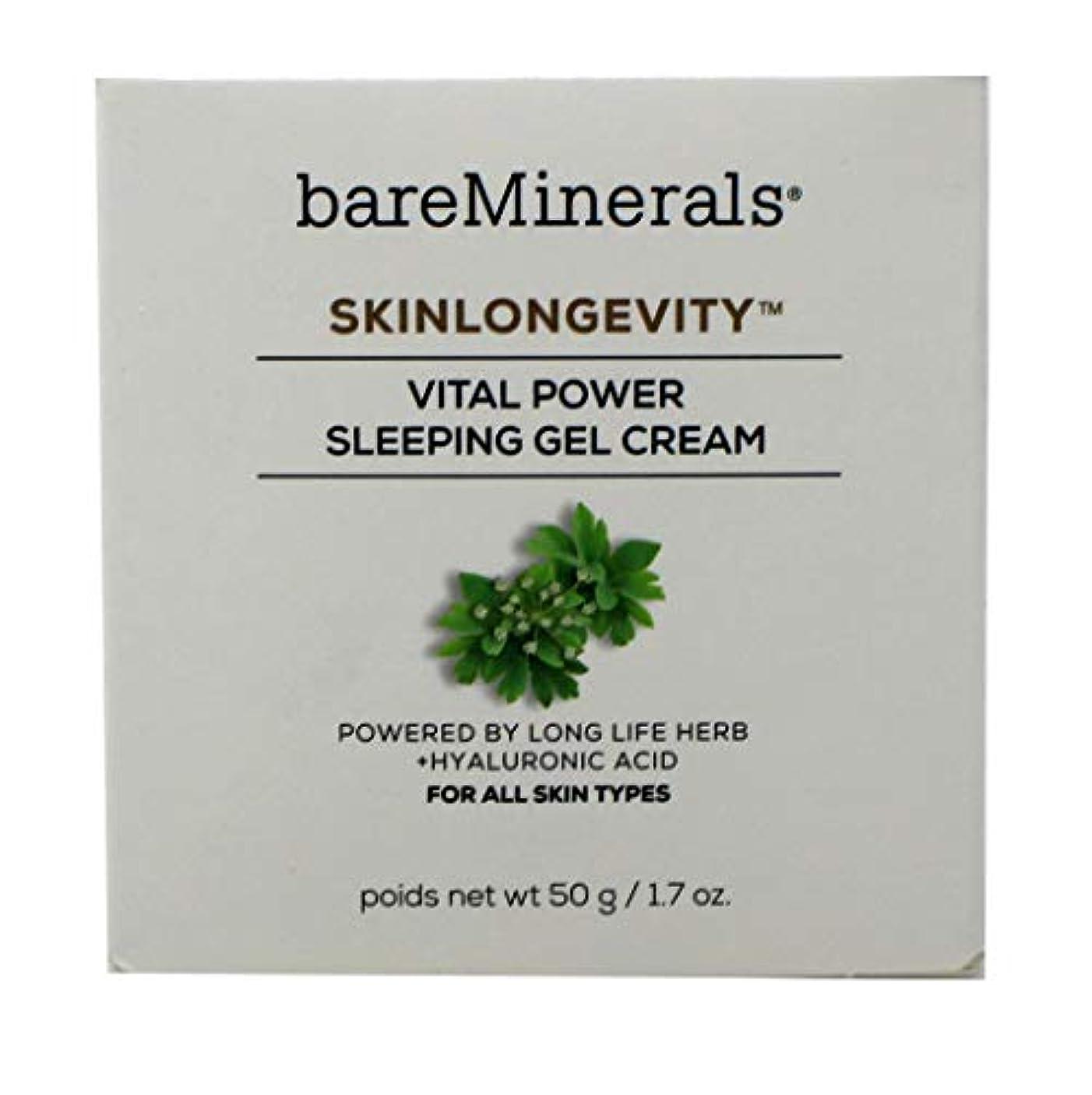肥沃なソフトウェア政治家のベアミネラル Skinlongevity Vital Power Sleeping Gel Cream 50g/1.7oz並行輸入品