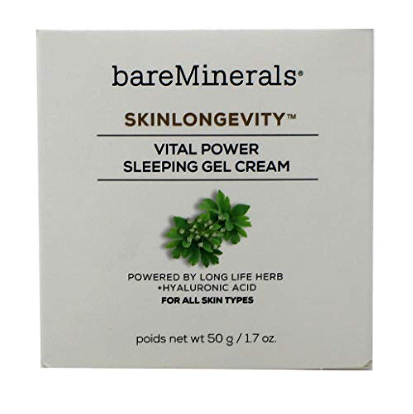 愚かな日没自治的ベアミネラル Skinlongevity Vital Power Sleeping Gel Cream 50g/1.7oz並行輸入品