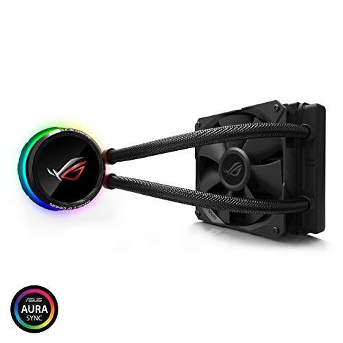 ASUS オールインワン型水冷ユニット CPUクーラー ROG RYUO 120 / color OLED/Aura Sync RGB / 120mm口径 120mmサイズ ラジエーターファン
