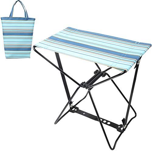 Doublesail 折りたたみ アウトドアチェア 軽量 頑丈 キャンプ用コンパクト椅子 イス 収納バッグ付き お釣り 登山 携帯便利 キャンプ椅子 (ダークブルー+ライトブルー)