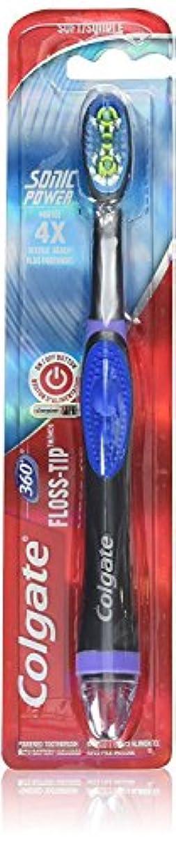 ラメ楽観的行方不明Colgate Floss-Tip Sonic Power 電動歯ブラシ 音波式 フロスチップ [並行輸入品]