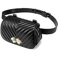 LOVEVOOK Fanny Pack Designer Compact Travel Sport Belt Bag for Women Inset Lions