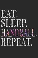 HANDBALL NOTIZBUCH: Handball Notizbuch die Perfekte Geschenkidee fuer Handball Spieler oder Handball Fans. Das Taschenbuch hat 120 weisse Seiten mit Punktraster die dich beim Schreiben oder skizzieren unterstuetzten.