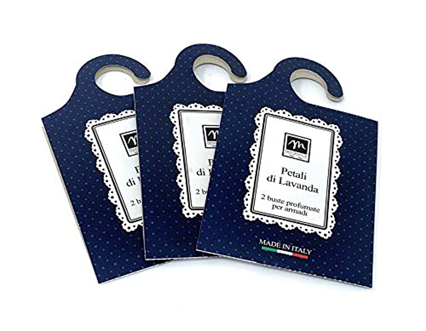 繁雑怠惰全員MERCURY ITALY 吊り下げるサシェ(香り袋) MAISON イタリア製 ラベンダーの花びらの香り/Petali di Lavanda 2枚入り×3パック [並行輸入品]