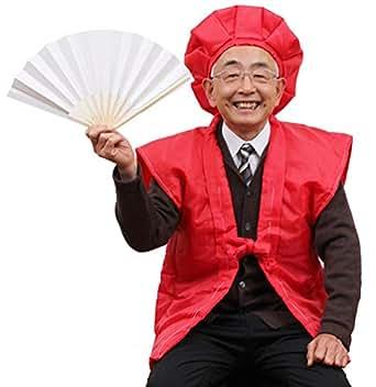 還暦祝い4点セット 赤いちゃんちゃんこ 頭巾 扇子 栞 (化粧箱のみ)