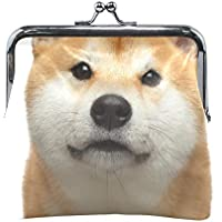 AOMOKI 財布 小銭入れ ガマ口 コインケース レディース メンズ レザー 丸形 おしゃれ プレゼント ギフト オリジナル 小物ケース 柴犬 可愛い犬
