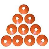 Zakur マーカーコーン カラーコーン 割れにくい サッカー フットサル 用品 (オレンジ, 10枚)