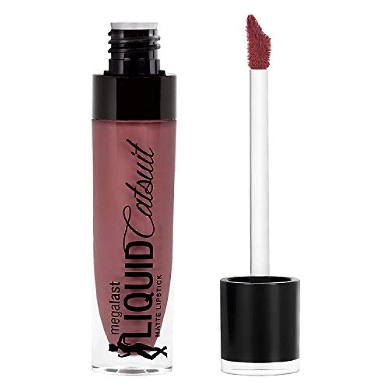呪いキモい句読点Wet n Wild Megalast Liquid Catsuit Matte Lipstick, Rebel Rose, 6g