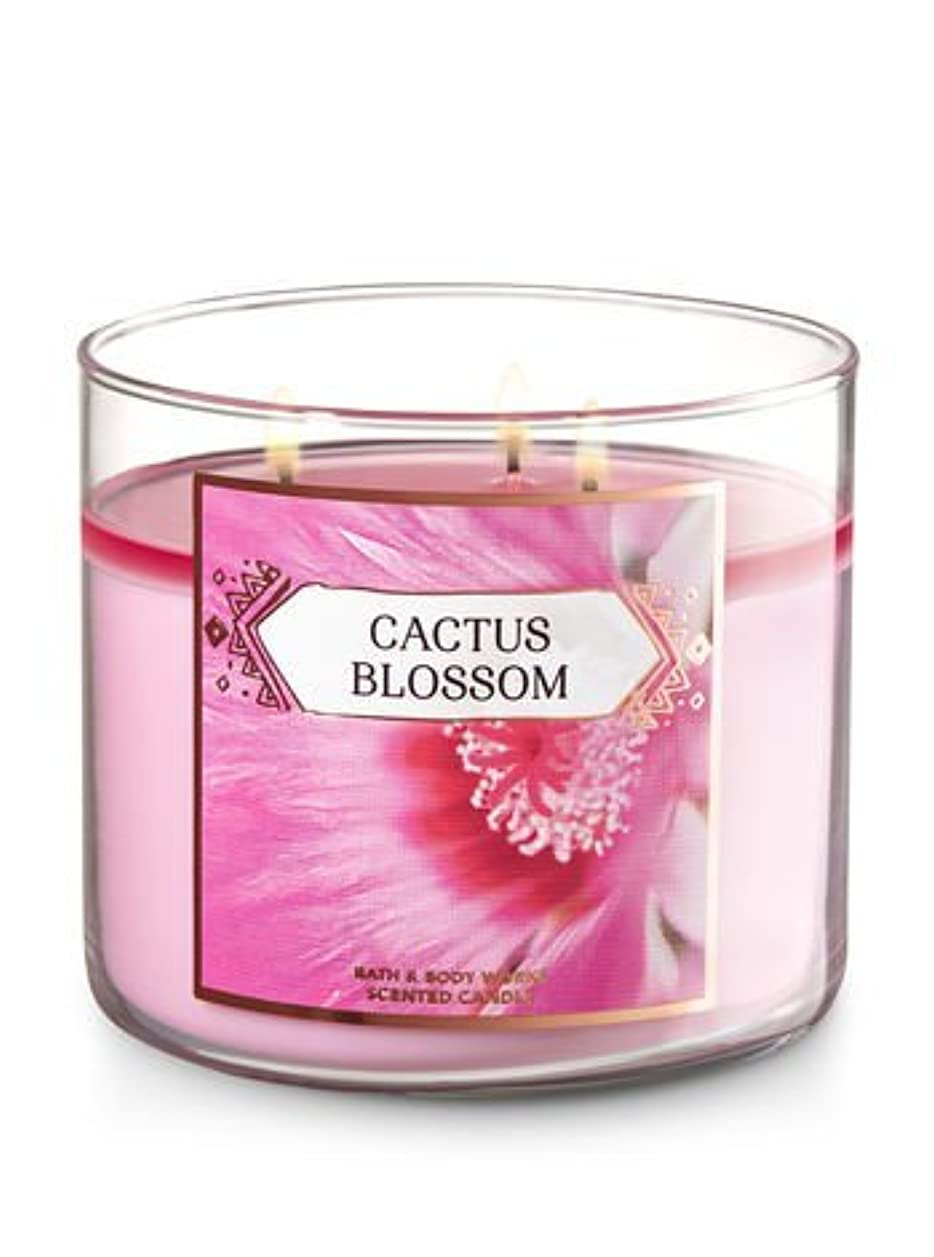 のり体系的に洗うBath and Body Works 3-wick Scented Candle Cactus Blossom 14.5オンス