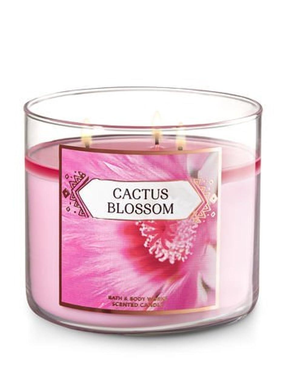 歯車空洞アクセントBath and Body Works 3-wick Scented Candle Cactus Blossom 14.5オンス
