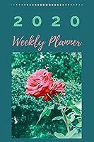 2020 Weekly Planner: Teal Weekly Planner Flower Book, Week Plans, Girls Organizer Tool, 6 X 9 (Work Books)