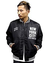 4500  BADASS バダス NEWYORK スタジャン ナイロン ジャケット ブラック ニューヨーク アウター