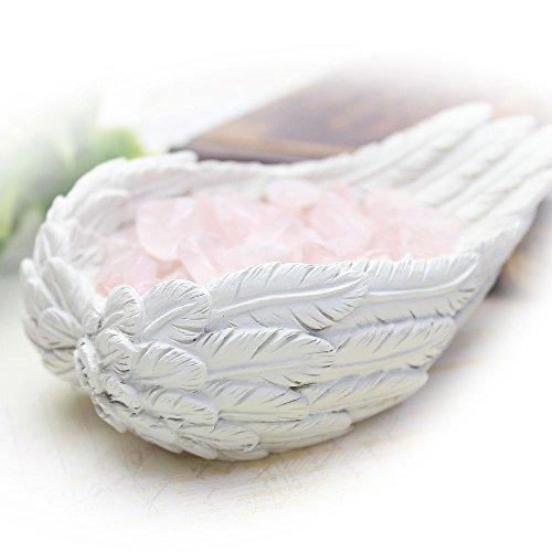 【さざれチップ付♪】天使の羽皿 ブレスレットの浄化用 浄化皿 ローズクォーツさざれ石&専用ギフトボックス付 Angelium エンジェルシリーズ パワーストーン 浄化アイテム