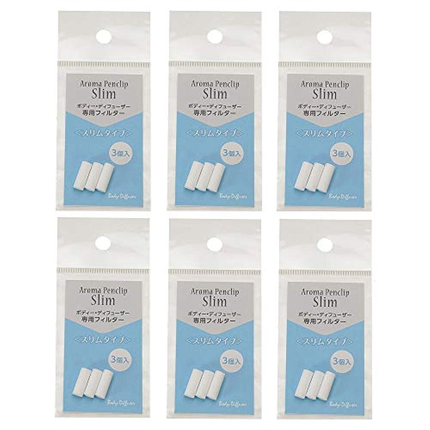 フェリー飲料ペインボディディフューザー (Body-Diffuse) Body-Diffuser ペンダントスリムフィルター1袋3個入 6袋 詰替え用 3個×6袋