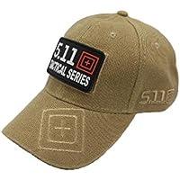 エーアイドット 5.11 キャップ タクティカル 帽子 帽章 付き 野球帽 サバイバル (カーキ)