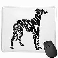 マウスパッド ROMP Italian Greyhound Rescue 光学式マウス対応 おしゃれ 滑り止め 防水 耐洗い表面 オフィス用 家庭用 30*25CM