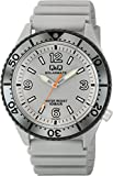[シチズン Q&Q] 腕時計 アナログ ソーラー 防水 ウレタンベルト H064-002 メンズ グレー