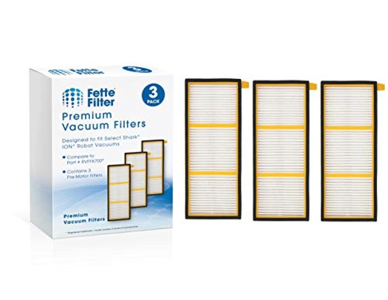 Fette Filter - ION ロボットプリモーターフィルターはSharkと互換性があります。 交換部品番号RVFFK700 (3個パック)。