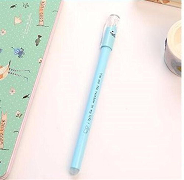 HuaQingPiJu-JP 3本セット/セットキッテンゲルペンキットキットペン学生用ステーショナリー用品(ブルー)