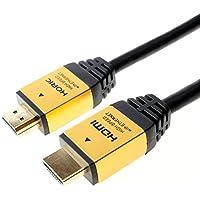 HORIC ハイスピードHDMIケーブル 3.0m ゴールド 4K/60p HDR 3D HEC ARC リンク機能 HDM30-013GD