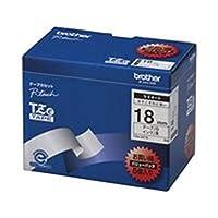 brother/ブラザー工業/文字テープ/ラベルプリンター用テープ / - 幅:18mm - / 5個入り / TZe-241V / 白に黒文字