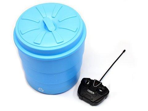 Linx フタ付きゴミ箱 ブルー (約) 直径20.3×23cm...
