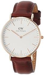 [ダニエル・ウェリントン]DanielWellington 腕時計 Classic St Mawes ホワイト文字盤 カーフレザーベルト DW00100035  【並行輸入品】