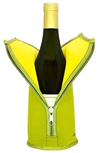 さくら製作所 クーラー オリーブ×イエロー 100×100×260mm(外寸) Wine Suit(ワインスーツ)12℃用 TW-12GR