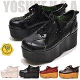 YOSUKE U.S.A ヨースケ 厚底 靴 厚底 スニーカー プラットフォーム【LL】24.0~24.5cm レッドブラウン