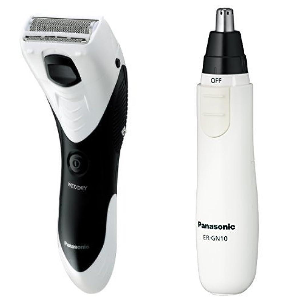 織機火薬アリーナパナソニック メンズシェーバー ボディ用 お風呂剃り可 白 ER-GK40-W + エチケットカッターセット