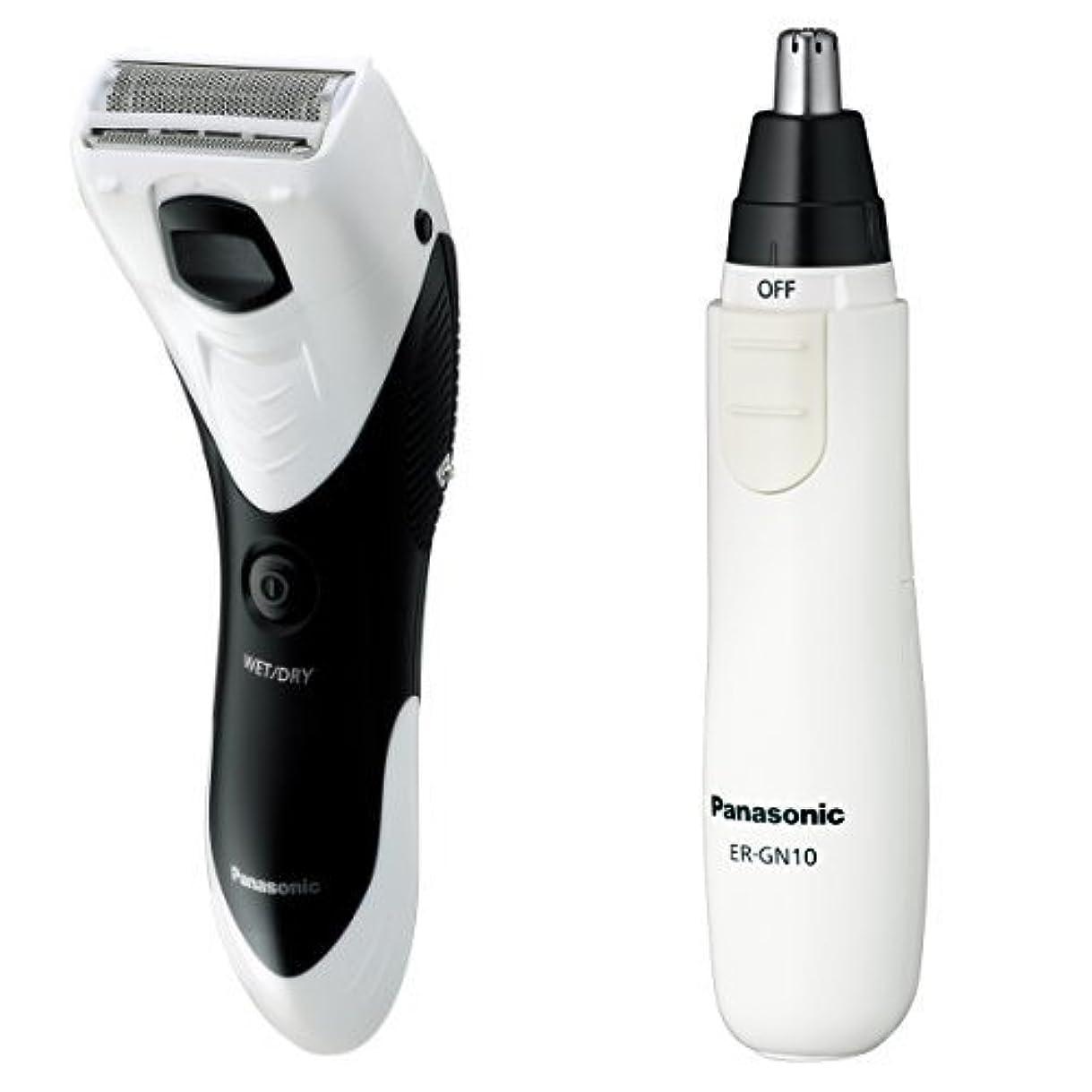 パナソニック メンズシェーバー ボディ用 お風呂剃り可 白 ER-GK40-W + エチケットカッターセット