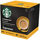 Starbucks Blonde Espresso Roast by NESCAFÉ Dolce Gusto Blonde Roast Coffee Pods, Box of 12 Capsules, 66g (12 Serves)