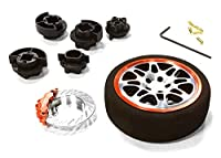 Integy RC Model Hop-ups C26403BLACKRED Dual 8 Spoke Steering Wheel Set for Most HPI, Futaba, Airtronics, Hitec & KO