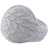 Chinashow Unisex Winter Warm Rear Wear Knitted Folding Earmuffs Ear Warmers,Gray