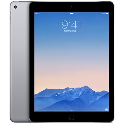 Apple au iPad Air2 Wi-Fi + Cellular 16GB スペースグレイ MGGX2J/A
