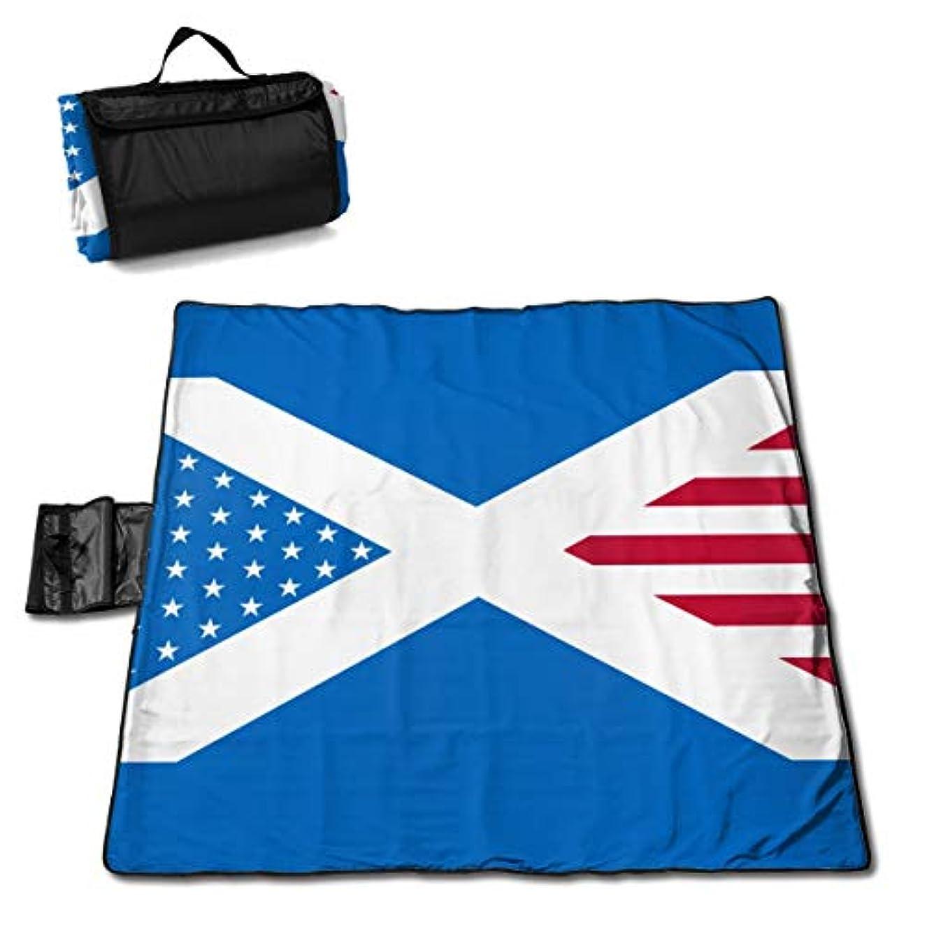 深くとまり木衝突コーススコットランドアメリカの国旗 ピクニックマット レジャーシート ファミリー レジャーマット 防水 防潮 マット 折り畳み 持ち運び便利 四季適用び おしゃれ花火大会 運動会 遠足 キャンプ 145×150cm