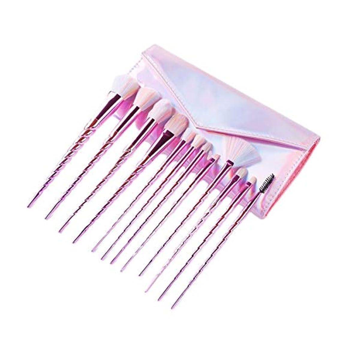 ページ付与フリッパーTUOFL メイクブラシセット初心者のアイシャドウブラシ美容ブラシツール女性、持ち運びのメイクブラシフルセット (Color : Pink)
