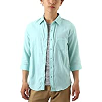 [REPIDO (リピード)] リネンシャツ ストレッチ 7分袖 メンズ 7分袖シャツ シャツ