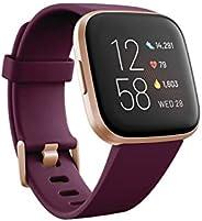 Fitbit FB507RGRW Versa 2 Premium Health and Fitness Smartwatch, Bordeaux/Copper Rose
