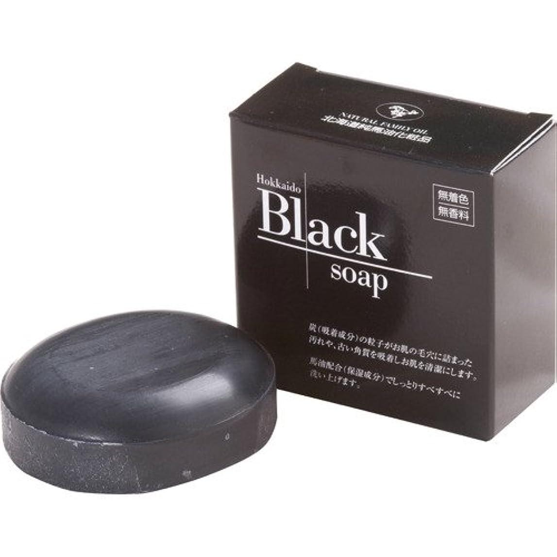 意気込み処理するマッサージ北海道黒石けん 100g