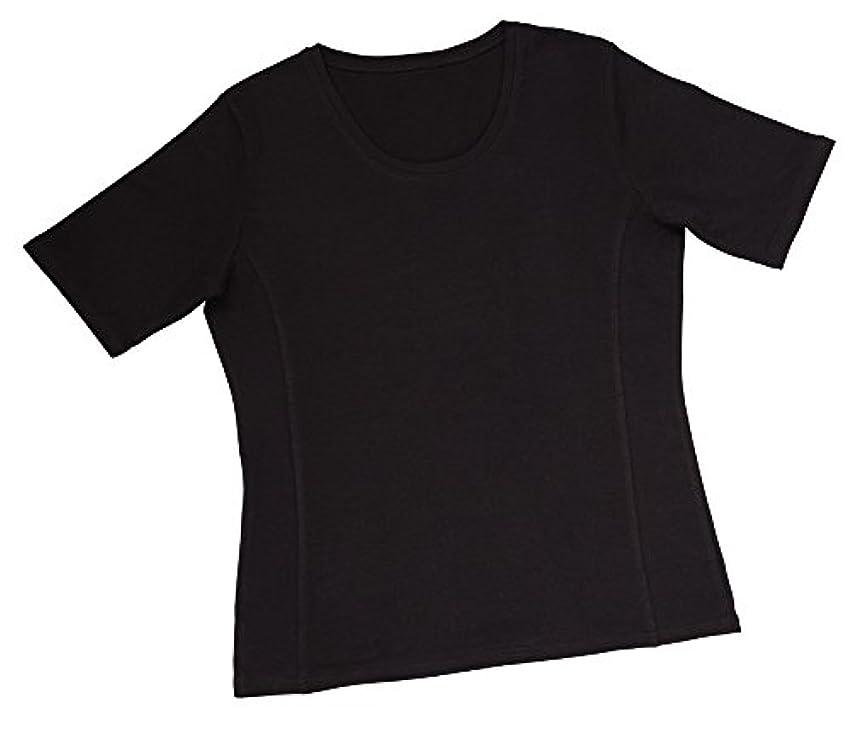 運ぶラッシュ寛容汗ジミ対策 着やせTシャツ M ブラック