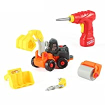 Futureエンジニアswap-n-play take-a-part DIY Construction Car Toy Set with電源ドリルby Kinder Toysネットワーク