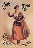 "Gaiety Theatre : Miss Florenceセント・ジョンin Carmen up toデータFineアートキャンバス印刷(20"" x30"")"